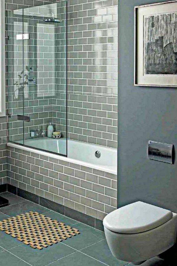 45+ Best Modern Bathroom Subway Tile Shower Walls Design ...