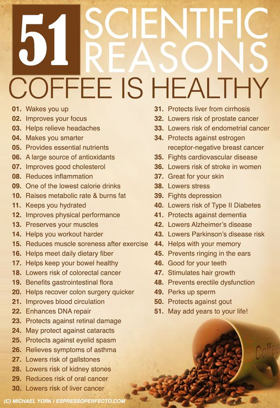51 scientific reasons coffee is healthy