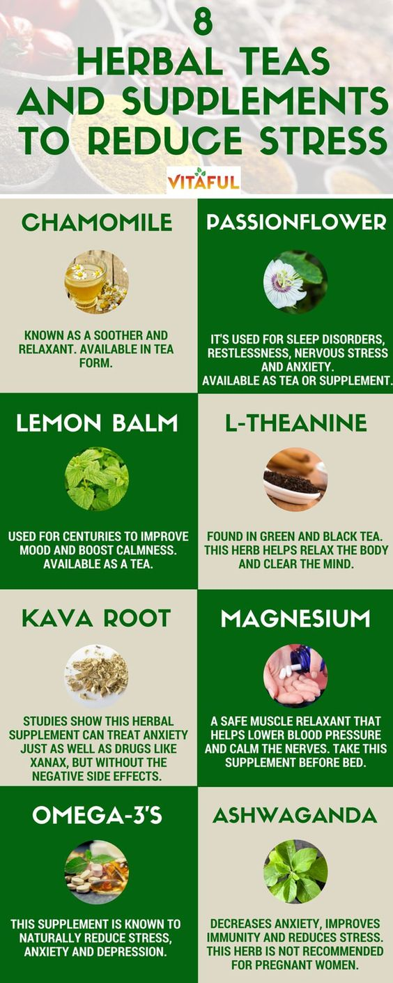 herbal teas and supplements to reduce stress