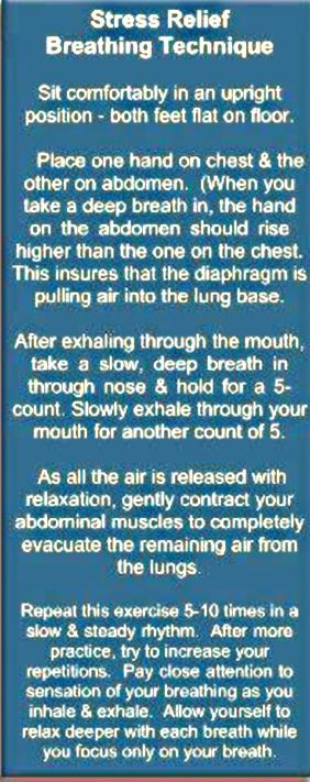 stress relief breathing technique