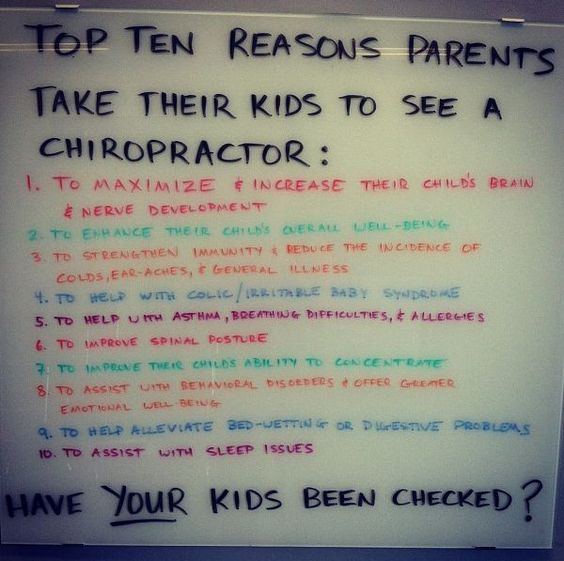 reasons parents take their kids to see a chiropractor