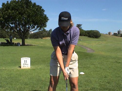 Women in Golf Upper Body Stance