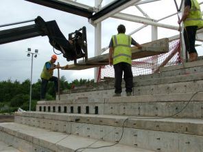 Last piece of terracing going in