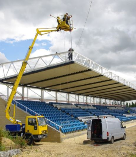 Floodlights going up