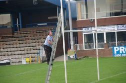 Otsy checking the Goal Posts