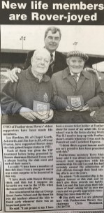 Newspaper clipping Life member