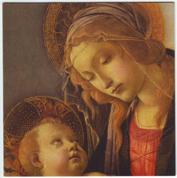 Image result for madonna and child baby on left botticelli