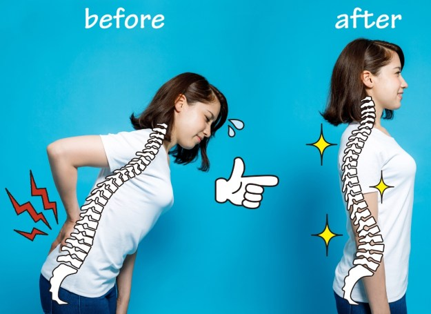 Good posture before-after example
