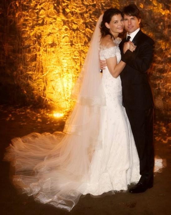 Katie Holme's wedding dress