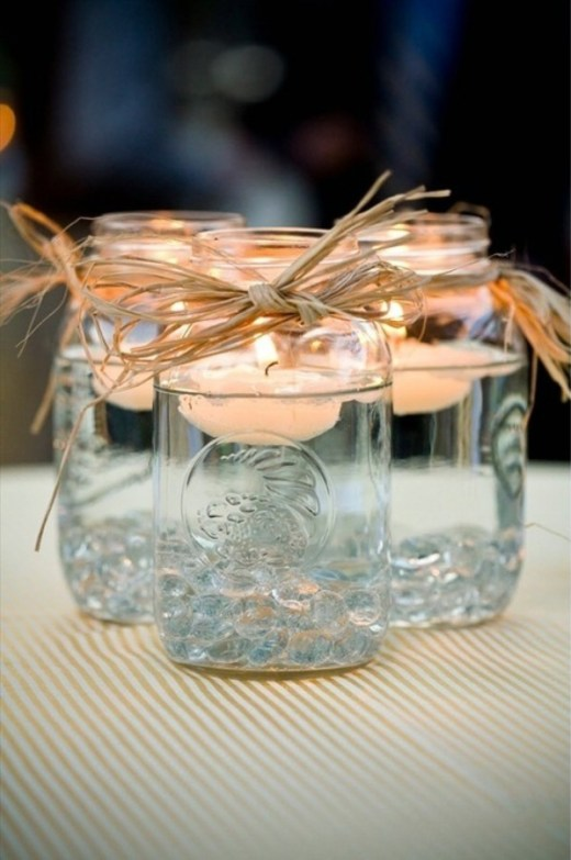 Mason jar candle decor