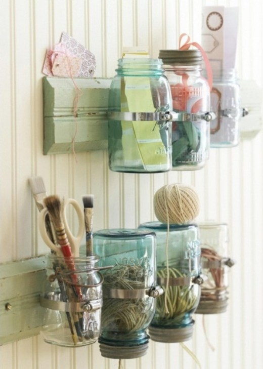 DIY storage mason jars