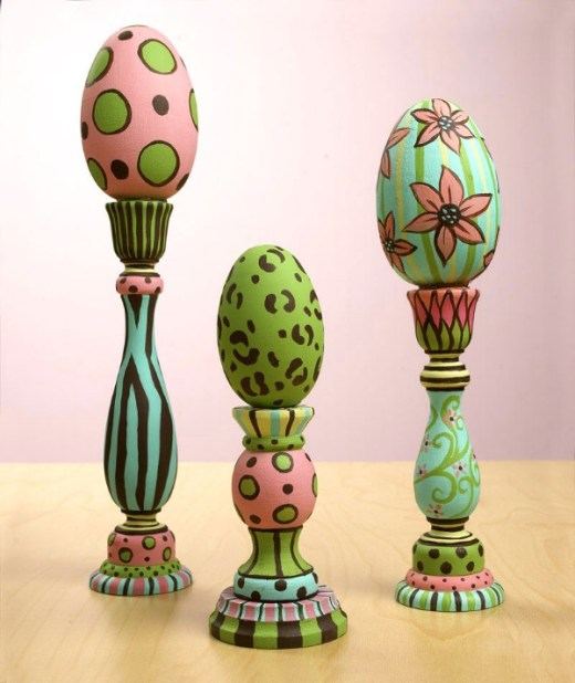 Easter candlesticks craft