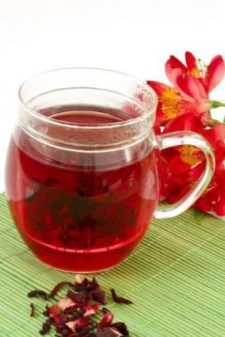 Delicious hibiscus tea