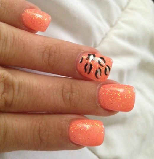 Orange crush nail design