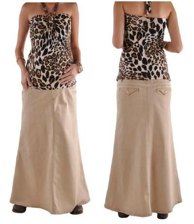 Style J 2Cute Khaki Maternity Skirt