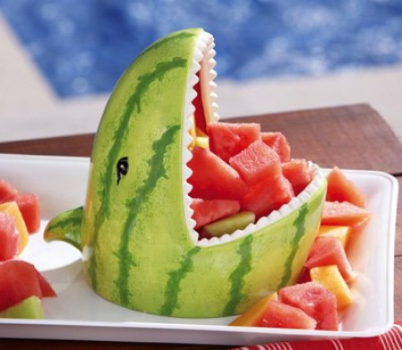 Watermelon Shark Decorative Server
