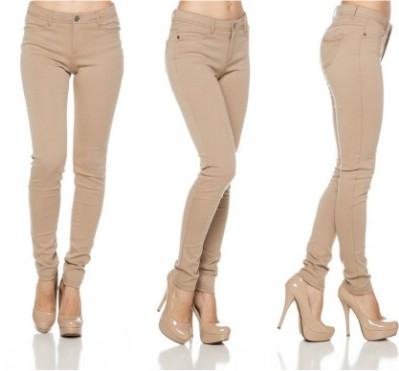 A.S Juniors Ponte Knit High Rise Stretch Skinny Jegging Pants