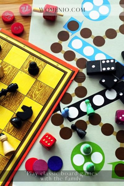 Play classic board games with the family