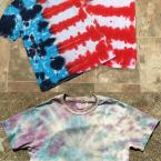 2 tie dye shirt patterns