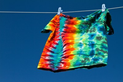 tie dye shirt washed out and drying