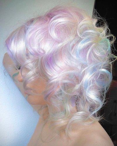 soft toned holo hair