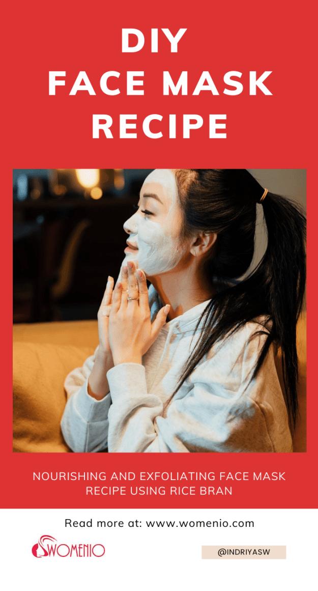 DIY rice bran face mask 13