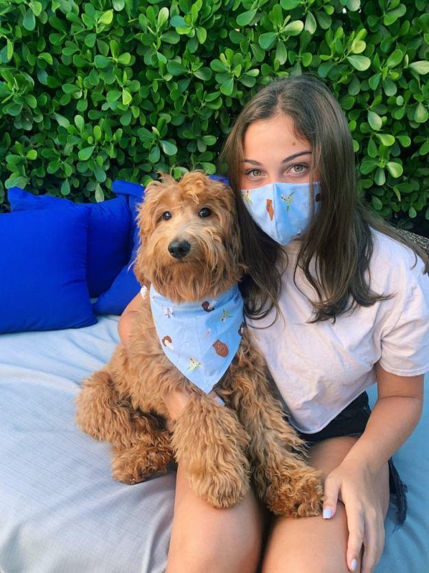 Dog Bandana and Matching Owner Face Mask star wars