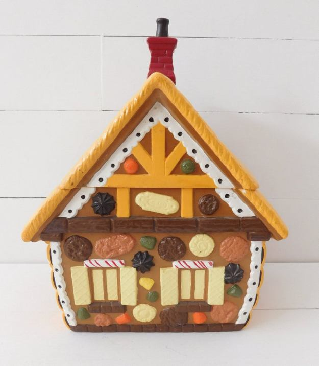 Vintage Gingerbread House Cookie Jar