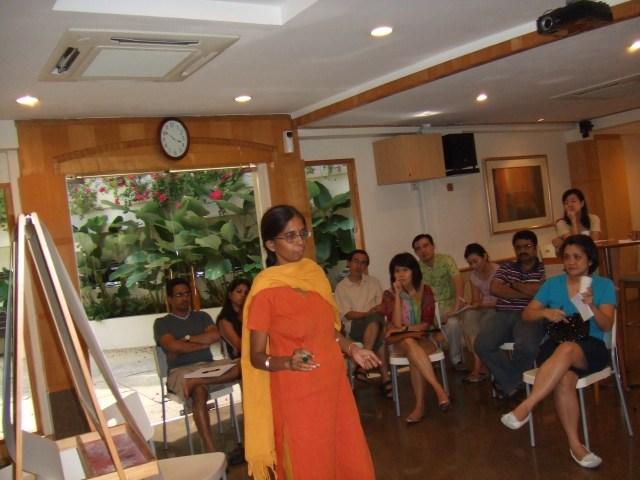 Dr Laxmi in her workshop