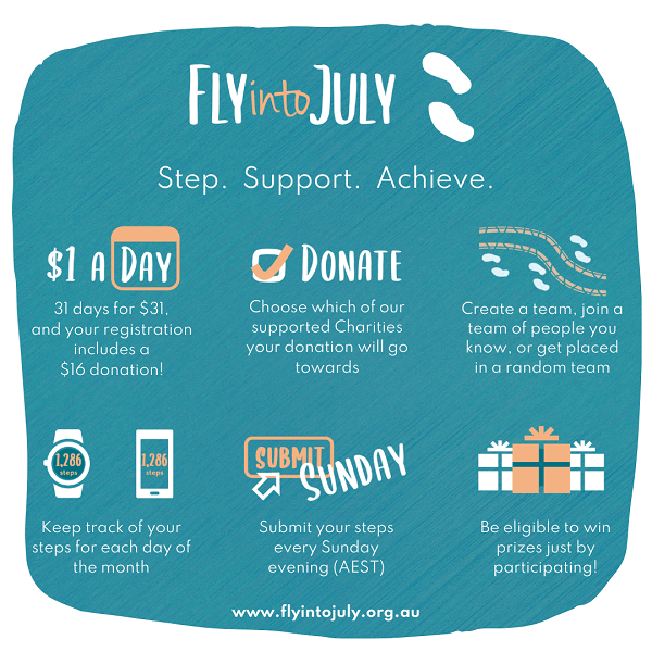 Fly into July and get fit