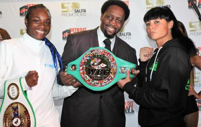 Claressa Shields and Sydney LeBlanc Make Weight for WBC Silver Title Bout Friday Night