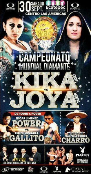 September 30: WBC Diamond Belt Tournament Final Between Yessica Chavez and Esmeralda Moreno