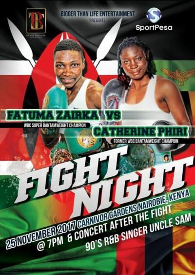 WBC Champion Fatuma Zarika to Defend her Title Against Catherine Phiri on November 25th
