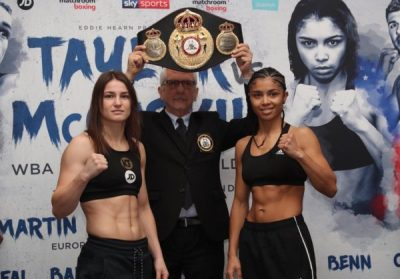 WBA Champion Katie Taylor and Underdog Jessica McCaskill Make Weight for Wednesday's Clash