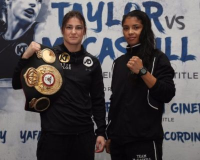WBA Champion Katie Taylor and Jessica McCaskill Address the Media Before their Showdown on Wednesday