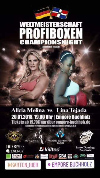Alicia Melina to Defend her Four Super Lightweight Titles Against Lina Tejada