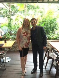 Winemaker Sebastien Long with Denise McCann