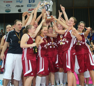 The Latvian Women Basketball Stood - Girls Wild Party