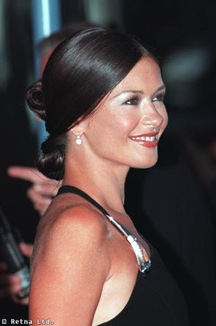 Catherine Zeta Jones With Updo Hairsyle Brunette