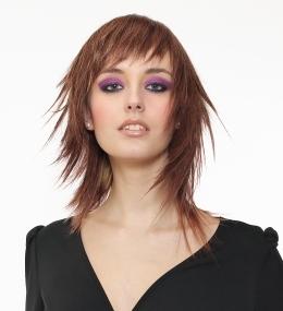 Medium Spiky Hair Style Layers Brunette Teen Hair Style