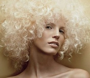 Blonde Afro Hairstyle For Women