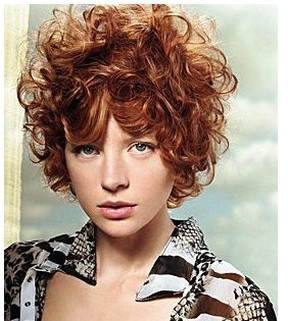 Very Short Curly Hairstyle With Red Hair