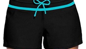 6e11c3670e Aleumdr Womens Side Split Waistband Swim Shorts With Panty Liner Plus Size S  - 3XL