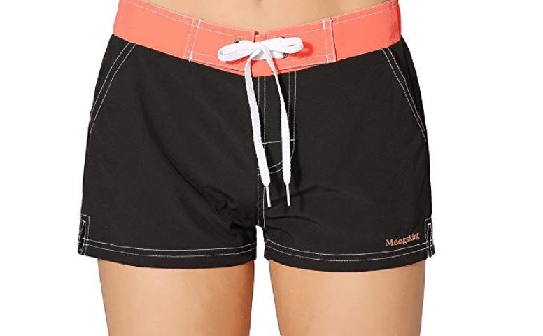 c9edcd868f81d Meegsking Women Quick Dry Swimwear Trunks Sports Board Shorts with Soft  Briefs Inner Lining