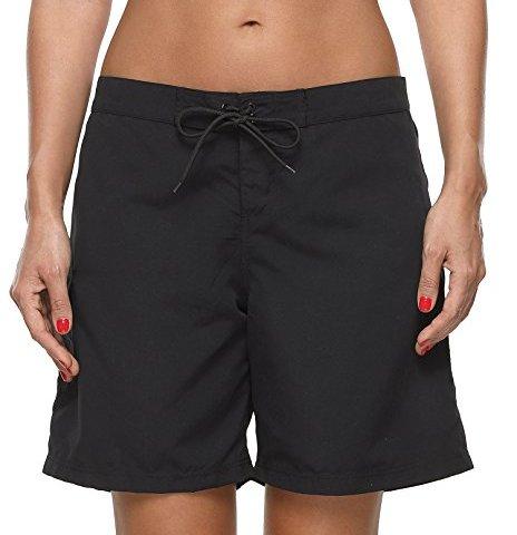 875eba35c8 ATTRACO Womens 9 inch Board Short Solid Stretch Drawstring Pocket Swim  Trunks