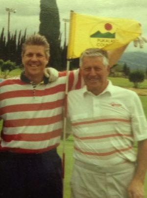 Happy times with Dad on Pukalani GC in Maui