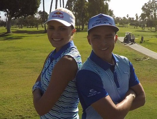 Lexi Thompson and Rickie Fowler