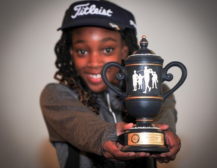 queen igbineweka trophy girls golf