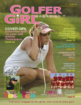 lexi thompson age 12 golfer girl magazine cover