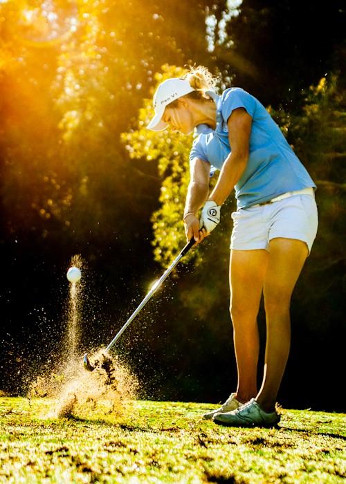 Amy Walsh iron shot Womens Golf